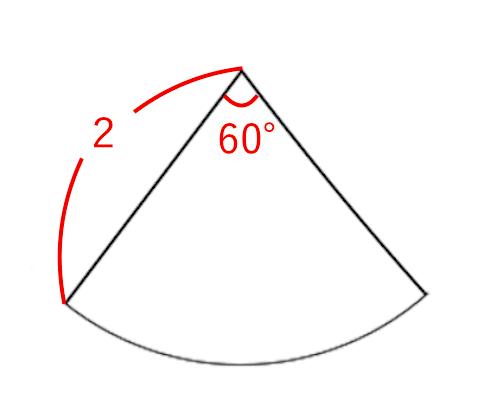 おうぎ形の面積の求め方