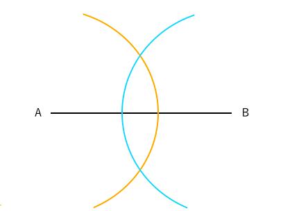 垂直二等分線の作図2