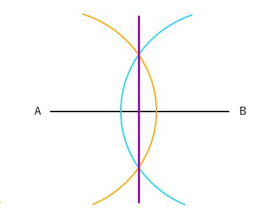 垂直二等分線の作図3