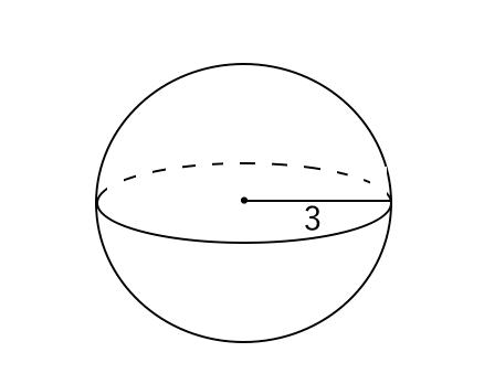 球の表面積の問題