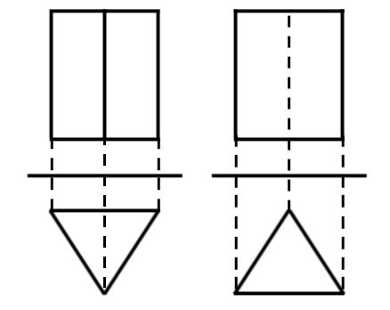 投影図,三角柱