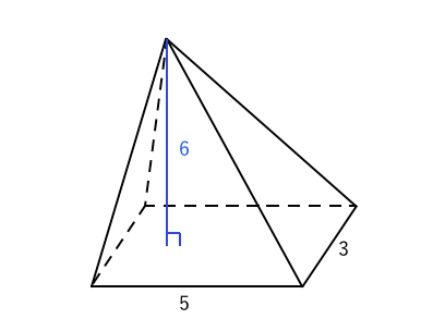 四角錐 体積の求め方
