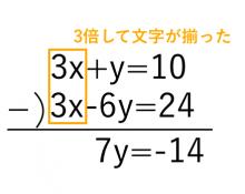 連立方程式,加減法3