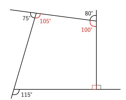 四角形,外角,和