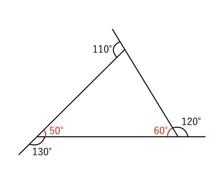 三角形,外角,和