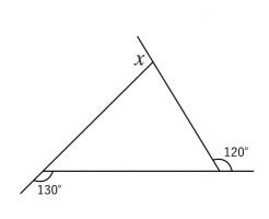 三角形,外角,問題