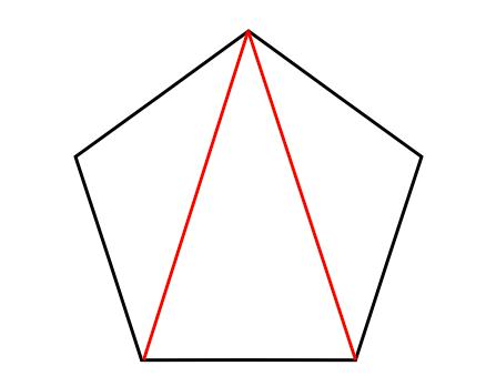 五角形,内角の和