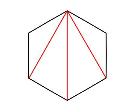 六角形,内角の和