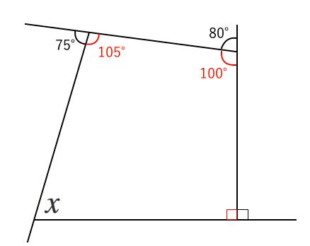四角形,外角,問題