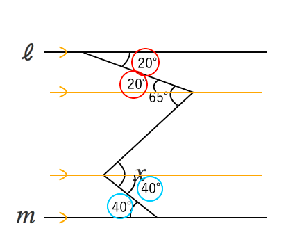 錯角,補助線