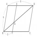相似な図形 ~平行線と線分の比~(平行四辺形)