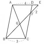 相似な図形 ~平行線と線分の比~(平行四辺形②)