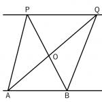 平行からの証明、面積比の問題