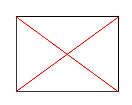 長方形,対角線
