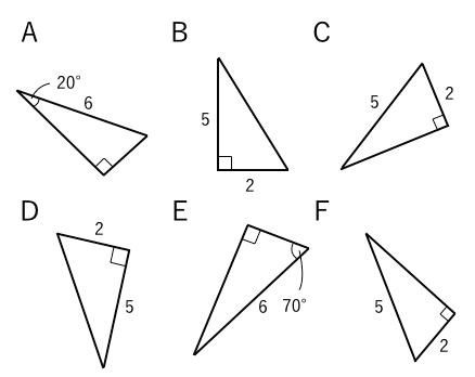 直角三角形,合同