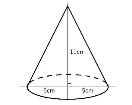 立体,体積,円錐