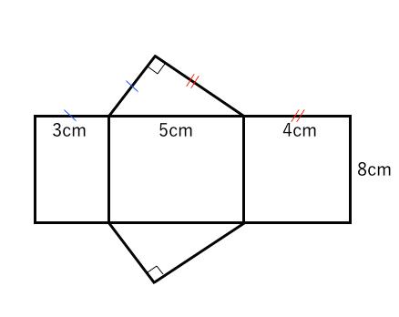 展開図,三角柱