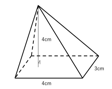 立体,体積,四角錐