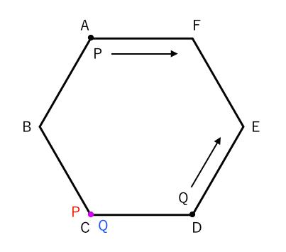確率,正六角形
