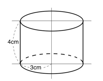 円柱,体積,表面積